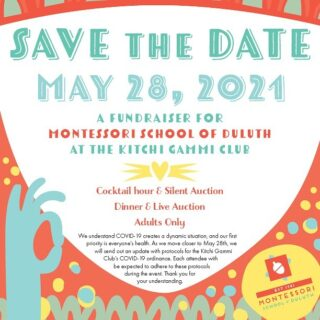 Have you heard?! Montessori School of Duluth is hosting its first annual fundraising dinner and live auction. There will also be a silent auction during cocktail hour. Stay tuned for more information!